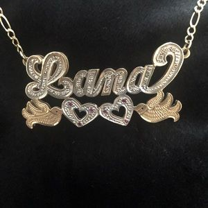 Jewelry - Personalized double plated 3D name necklace